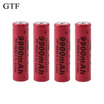 li-ion battery rechargeable 18650 battery 3.7V 9900mAh rechargeable Led flafor