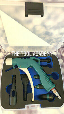 New! Air Blow Gun ToolKit 9pce in Case with 7 Extension / Nozzles Fan Turbo