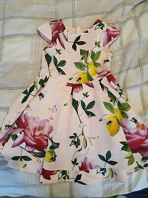 Gorgeous Girls Ted Baker Dress Age 5 Pink Flare