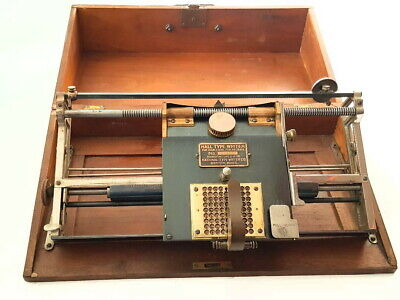 Antigua maquina de escribir  index  THE HALL BOSTON  1888 rare TYPEWRITER