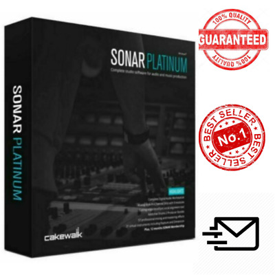 ✅Sonar Platinum Cakewalk Studio 23 With Plugins and Content ✅Lifetime License 🔒