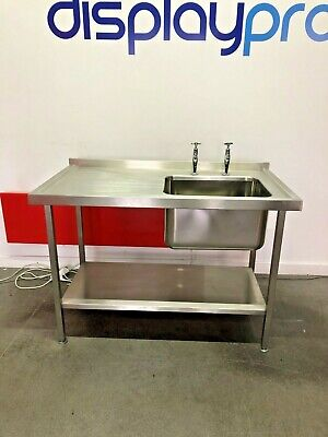 Stainless Steel Sink Unit with Under Shelf Catering Equipment