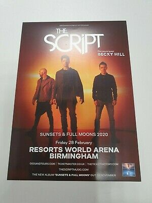 THE SCRIPT - SUNSETS & FULL MOONS TOUR - 2020 FLYERS x4