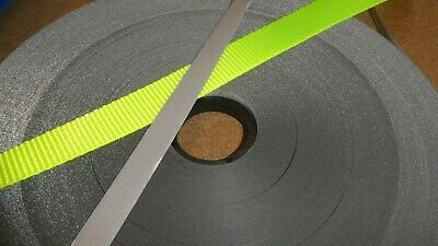 15mm Iron On Reflective Tape or 25mm Polyester Hi Vis Yellow Webbing