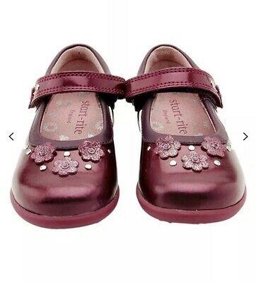 Start-rite Allium Patent Leather Shoes, Berry Infant 7.5 G EU 25