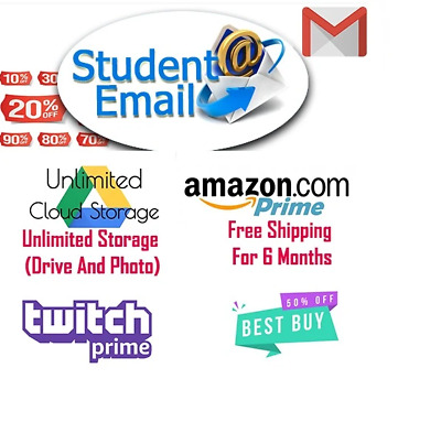 Edu Email ✔️ Unlimited Google drive✔️ Free 6 Months Amazon Prime✔️ Office365