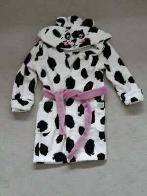 Girls Joules Dressing Gown Age 5-6 Dog