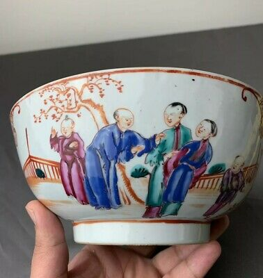 Highly Collectible Antique Chinese 18th Century Export Porcelain Bowl