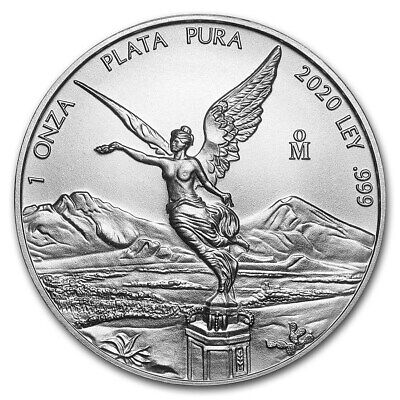 2020 Mexico Libertad 1 oz .999 Silver PRE-SALE Limited BU Round Bullion Coin