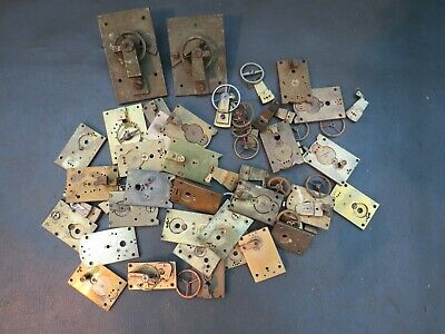 Vintage job lot of clock balance platform escapement parts - spares or repair