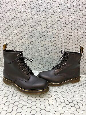 Dr. Martens 1460 Black Leather 8-Eye Lace Up Ankle Boots Men's Size 11