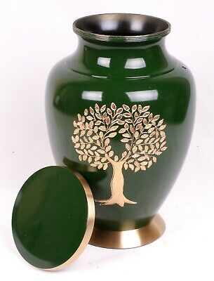 Large Green Tree Cremation Urn Adult Urn for Ashes Funeral Memorial Remembrance