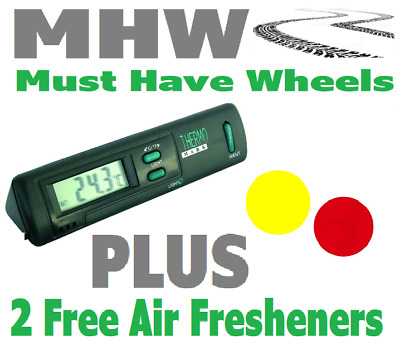 Carpoint  Inside / Outside Car Thermometer & 2 FREE Air Fresheners