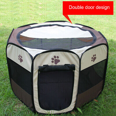 Cat Dog House Foldable Puppy Cave Pet Sleeping Warm Bed Mat Pad Nest Kennel Tent