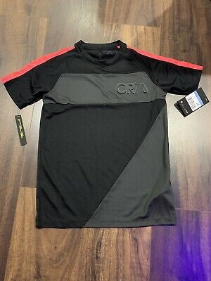 BOYS NIKE DRI-FIT CR7 TOP IN BLACK (SIZE M, AGE 8-10 APPROX) Brand New With Tags