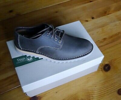 Clarks Newby Fly Nubuck Leather Mens Shoes Size 8 Uk Eu 42 Brand New In Box Free