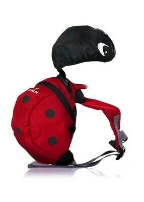 LittleLife Toddler Safety Backpack With Rein & Hood - Ladybird