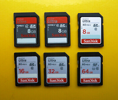 SanDisk 8GB | 16GB | 32GB | 64GB SDHC Ultra / Extreme Plus SDXC SD 8 16 32 64 GB