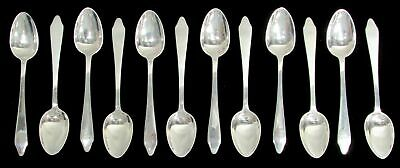 "Tiffany & Co Clinton 12 Pieces  4 3/8"" Demitasse Spoons No Mono Sterling Silver"