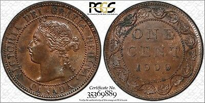 1900 Canada Large Cent PCGS MS-63 BN 1c Error