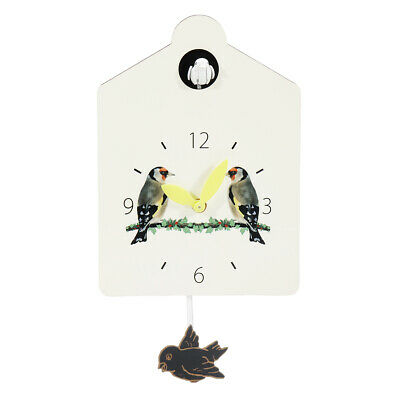 Cuckoo Wall Clock Bird Time Bell Alarm Swing Retro Style, Pendulum,  Battery