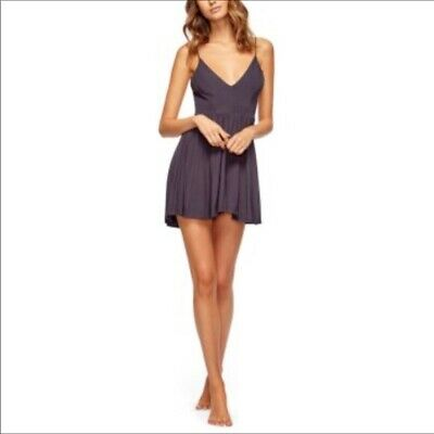 Sam Edelman Womens small Jersey Romper Strappy Blue