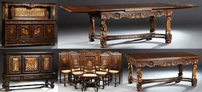 Dining Room Suite, French Provincial, Brittany, 13-Piece Hand, Vintage/Antique!!