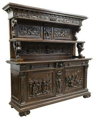 Antique Sideboard, Italian Renaissance Revivial, Carved, (1800s), Stunning!