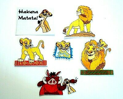 "Simba Patch Lion King Embroidered Iron On Applique 3.00/"" X 3.00/"""