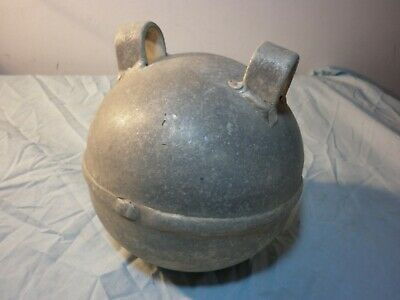"Vintage Metal Buoy / Float 7"" Marked 1200 9 ? Fishing Shipping Marine Alloy Old"