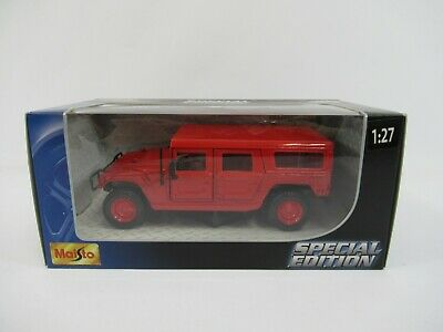 Maisto Special Edition Hummer 4-Door SUV Red 1:27 Scale 31900 Boxed New