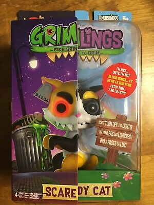 WowWee Grimlings Scaredy Cat Interactive Animal Toy New Fingerlings - 4334