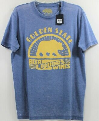 Lucky Brand Mens T-Shirt Golden State Beer Liquors Wines Color Gray Size L Large