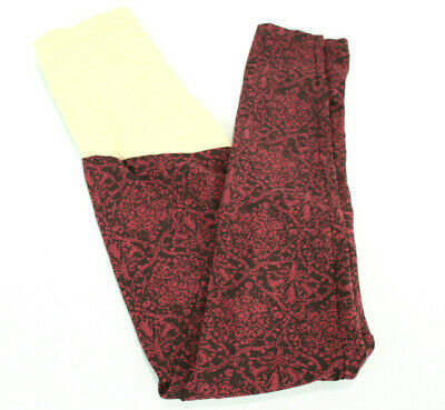 Motherhood Maternity Womens Size Small Burgundy & Black Knit Paisley Leggings