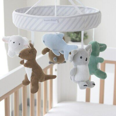 NEW Bubba Blue Aussie Animals Musical Mobile from Baby Barn Discounts