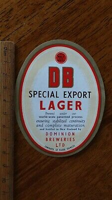 1 x 12 FLUID OUNCES DB SPECIAL EXPORT LAGER NEW ZEALAND BEER LABEL