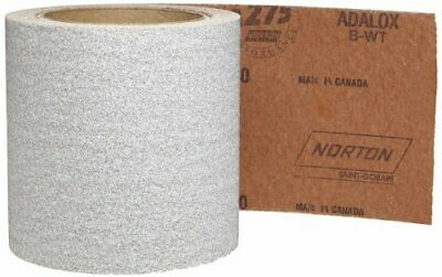 "Norton 66261131697 Alum Oxide, Waterproof, Roll 4-1/2"" x 10yd,Grit 80 Pk of 1"