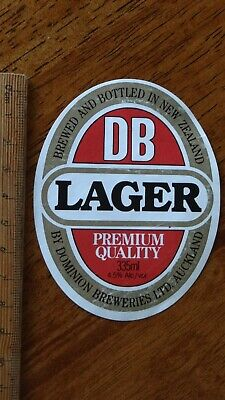 1 x 335ml DB LAGER AUCKLAND NEW ZEALAND BEER LABEL