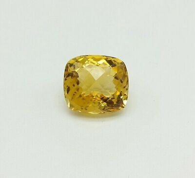 4.2 MM Yellow Cushion Cubic Zirconia Vibrant (CZ) Loose Stone For Jewelry