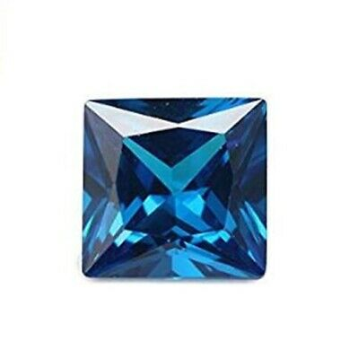3 MM Blue Princess Cubic Zirconia Vibrant (CZ) Loose Stone For Jewelry