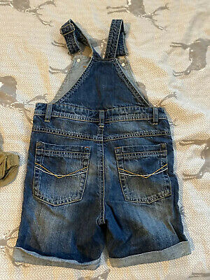 Next Boys Short Dungarees Age 4-5 Years