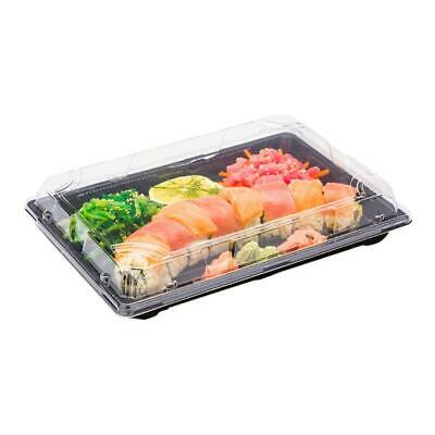 Take away Sushi Tray - With Lids QA03 216 x 135 x 71mm -  Pack 100