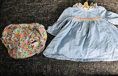 Little Bird Jools Oliver Baby Girls Denim Dress & Pants Outfit BNWT Newborn