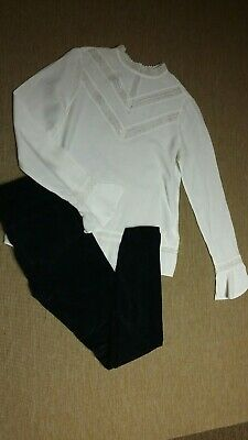 Zara Girls Black Trousers Mayoral Blouse 13-14 Years