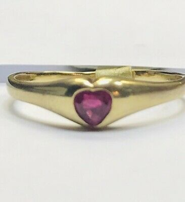 VALENTINES 9ct Gold Preloved RUBY HEART Ring