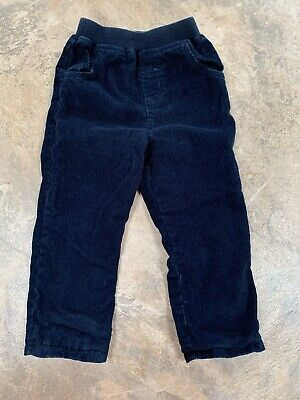 Jojo Maman Bebe Boys Navy Blue Cord Trousers - Lined 18-24 Months 💙VGC💙