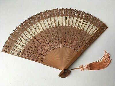 Antique Chinese Wooden Fan