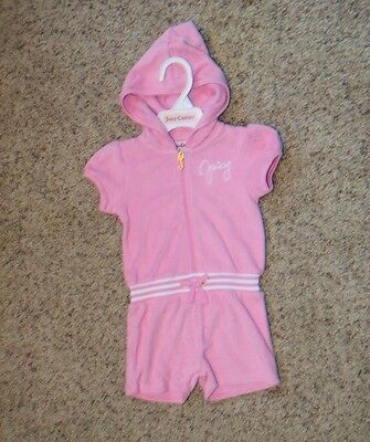 Juicy Couture Girls Pink Terry Romper - Size 4 - NWT