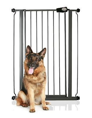 Safetots Child and Pet Slate Grey Dog Gate 75cm - 83cm