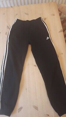 Boys adidas tracksuit bottoms 13-14 yrs two pairs.one  grey and one black